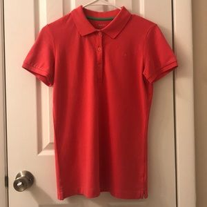Lilly Pulitzer polo t-shirt, pink, size small